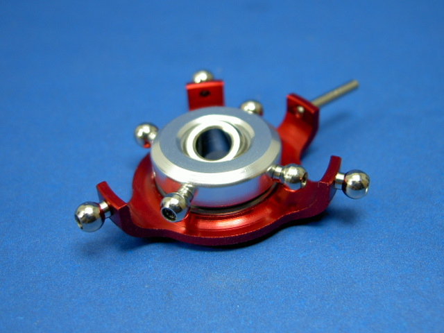 GS3-6206C 120 degree CNC Swashplate (Red 5mm)
